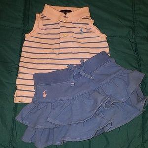 2pc Ralph Lauren Baby set
